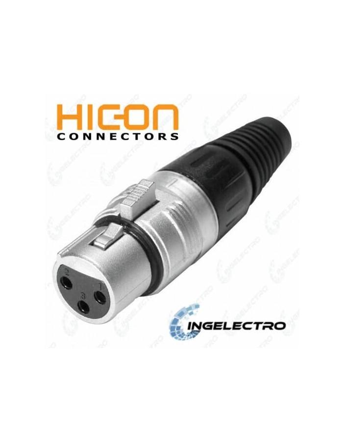 Conector para cable de Audio HICON XLR 3 POLOS HI-X3CF