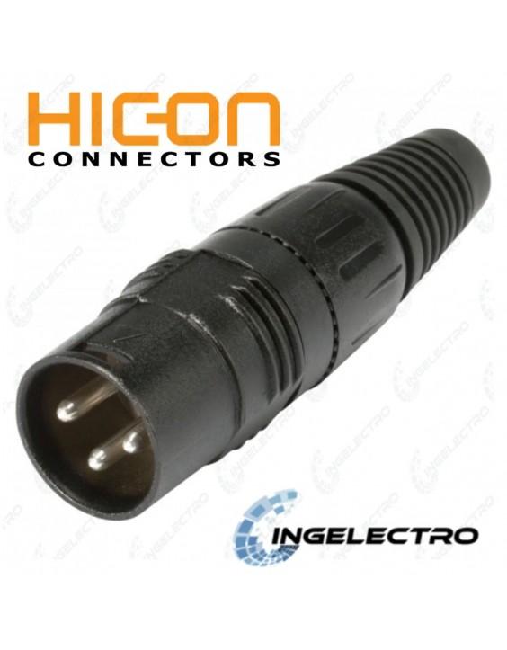 Conector para cable de Audio HICON XLR 3 POLOS HI-X3CM-B