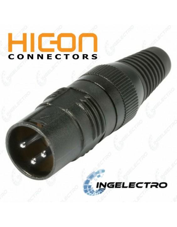Conector para cable de Audio HICON XLR 3 POLOS HI-X3CM-M