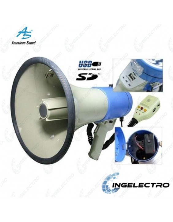 Megáfono Recargable American Sound MP-518UB