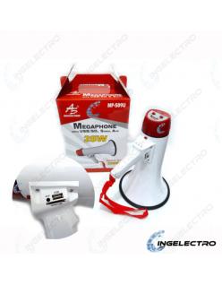 Megáfono American Sound modelo MP509U con USB/SD, sirena y auxiliar