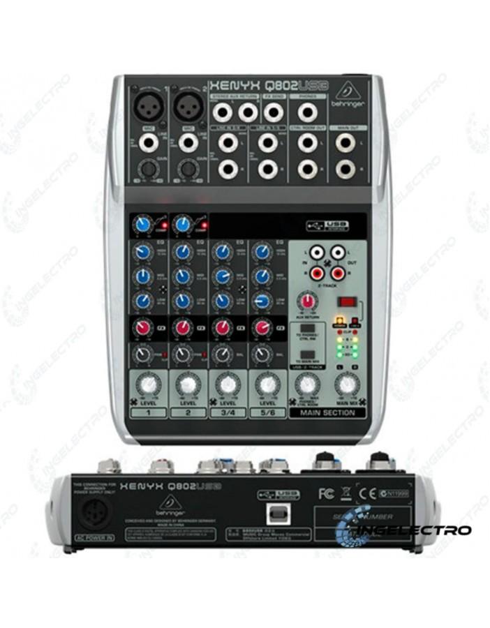 Mezclador Analogo Behringer Q802 USB